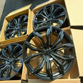 "Selling: 20"" RTX Black Widow Gloss Black Wheels - 5x114"