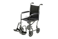 SALE: Drive Aluminum Transport Chair, 19″ × 16″, Full-Length Arms