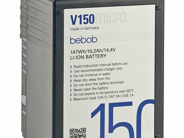 Vermieten: V-Mount Akku 150 Wh Bebob VMicro (2x)