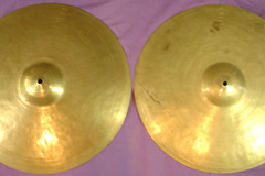 """Selling with online payment: SOLD 1930-45 K. ZILDJIAN Istanbul 15"""" hi-hats Hear them on video"""
