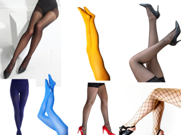 Liquidation/Wholesale Lot: ASSORTED WOMEN'S TIGHTS AND NYLONS $75+ MSRP iN EVERY BOX!