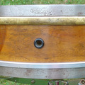 Selling with online payment: SOLD- 1914-1924 Ludwig & Ludwig Solid maple 4 x 15 tube lug  drum