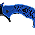 "Liquidation/Wholesale Lot: 5.5"" Batman Curved Karambit Fighting Folding Pocket Knife - Blue"