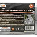 Liquidation/Wholesale Lot: 2-pc. 3' x 6-1/2' Emergency Blanket Set