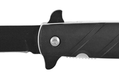 """Liquidation/Wholesale Lot: 5"""" Flip Open Spring Assisted Stiletto Knife - Black and White"""