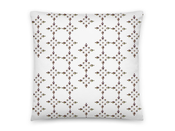 """For Sale: Cushion - 18"""" FAUX SUEDE HELIUM HEARTS in WHITE by Livz Design"""