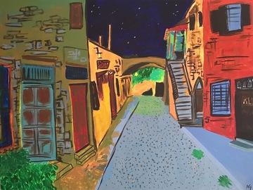 Sell Artworks: A Village at Night
