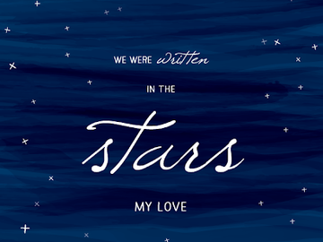 Selling: IS YOUR LOVE WRITTEN IN THE STARS? Initials, dates etc