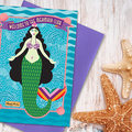 Selling with online payment: Mermaid Club Greeting Card