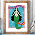 Selling with online payment: Mermaid Club Print 12x16