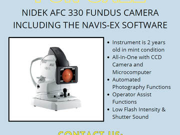 Selling with online payment: Nidek AFC-330 Fundus Camera