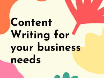 Pay per project: Write content for all your business needs