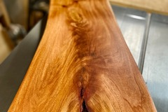 Selling with online payment: Live Natural Edge Cuban Mahogany Charcuterie / Cutting Board