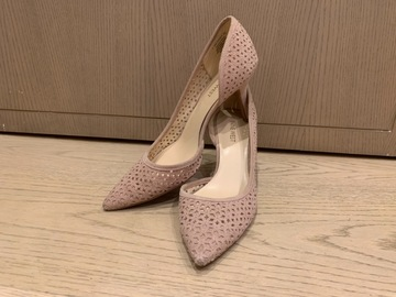 Selling without online payment: Nine West Dusty Pink Leather Heels