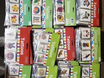 Liquidation/Wholesale Lot: Over 8000 Assorted  Temporary Tattoos