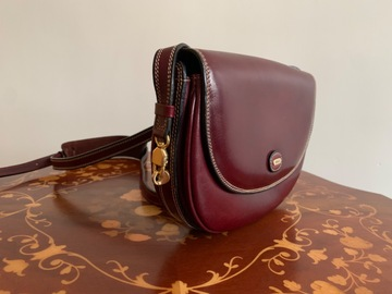 Selling without online payment: Vintage Maroon Bally Crossbody Bag