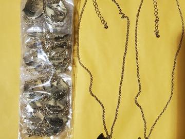 Liquidation/Wholesale Lot: Dozen New Gold Owl Best Friend Necklaces