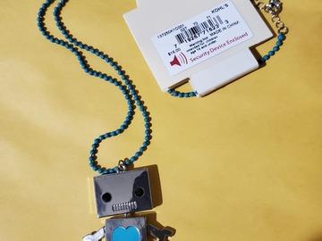 Liquidation/Wholesale Lot: Dozen New Novelry Robot Necklaces from Kohls
