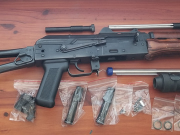 Selling: GHK AK-74U with 9 mags and extra barrel/parts