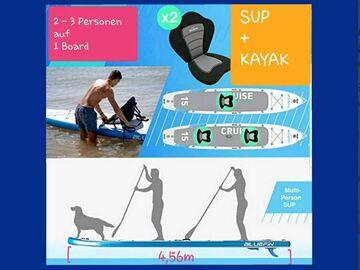 Vermiete dein Board pro Tag: Mo- Fr Tandem SUP-Board; Bluefin 15`  - 2-3 Personen Tragkraft