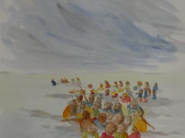 Sell Artworks: Bain des trois joyeuses vue sur mer