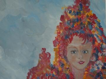Sell Artworks: Les deux coiffes rouges bigarées