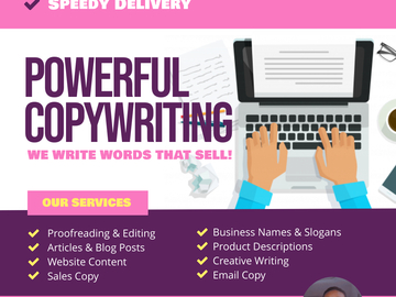 Pay per project: Be your best Copywriter and Content writer