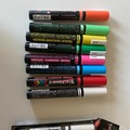 Myydään: marker pens for glass