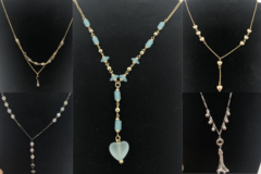 Liquidation/Wholesale Lot: 100 Kathryn Kent Y-Shaped Necklaces Assorted styles Priced $29.00