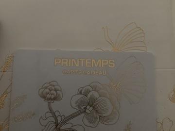Vente: Carte cadeau Printemps (100€)