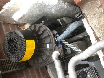Gebruikte apparatuur: durr compressor 1 cylinder en afzuigmotor