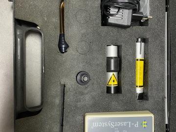 Gebruikte apparatuur: P-LaserSystem met koffer en boekje