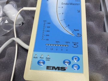 Gebruikte apparatuur: EMS ENDO Master in koffer