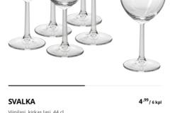 Ilmoitus: Svalka viinilaseja