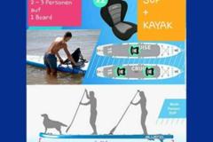 Vermieten Equipment/Ausrüsstung mit eigener Preiseinheit (Kein Verfügbarkeitskalender): 3 Tage Mo-Do Tandem SUP-Board; Bluefin 15` 2-3 Personen Tragkraft