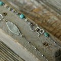 Selling: Terrain - Multi Gemstone and Leaf Necklace