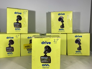 """Liquidation/Wholesale Lot: ONN Dash Cameras with 2.7"""" Display Screen & more ELECTRONICS !!"""