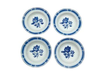 Vente: 4 Assiettes creuses en porcelaine Art deco