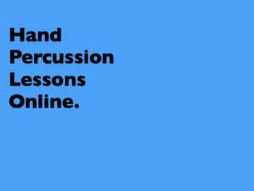 Offering with online payment: World Hand Percussion Lessons Online