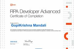 Hourly rate: UIpath and Blue Prism Advanced Developer