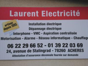 Offre: Laurent Riel - électricien