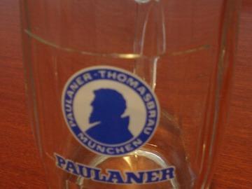 Vente: Chope à bière PAULANER 0,5 L neuve