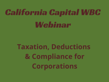 Announcement: Taxation, Deductions & Compliance for Corporations