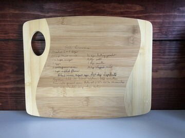 Selling with online payment: Custom Cutting Board