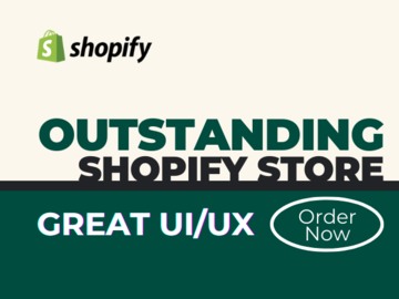 Pay per project: Create an outstanding shopify store with great UI/UX experience