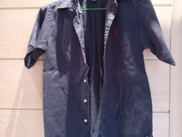 Vente: Chemise à manche courte Ralph Lauren (12 ans)