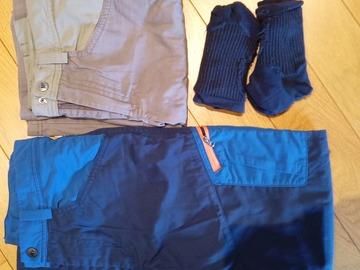 Vente: Ensemble pantalon et bermuda de randonnée quechua (12 ans)