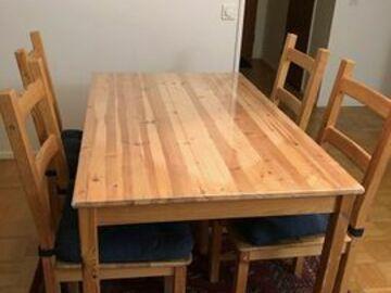 Myydään: Kitchen table and chair