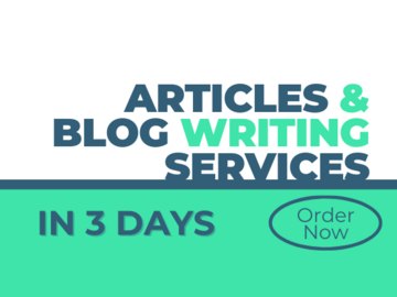 Pay per project: Write Articles & Blog posts for your online store