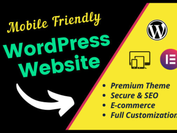Pay per project: Design responsive wordpress website with ecommerce or blo